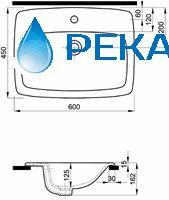 Koło Umywalka Wpuszczana W Blat Nova Pro 60 Cm M31861 Pekado