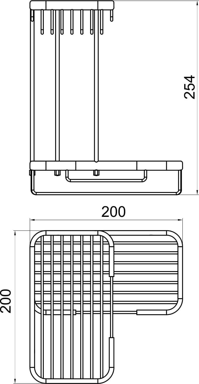 Ferro Koszyk Podwójny Narożny L Metalia Prysznic 60740 Pekado